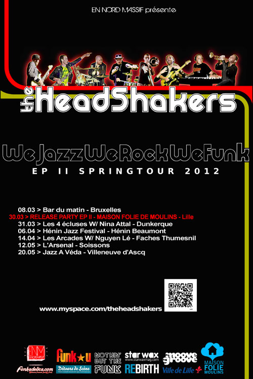Affiche THS   Le groupe lillois The Head Shakers démarre sa tournée !
