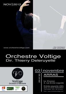orchestre voltige affiche   Haute Voltige musicale ce samedi 3 novembre 2012 à Arras