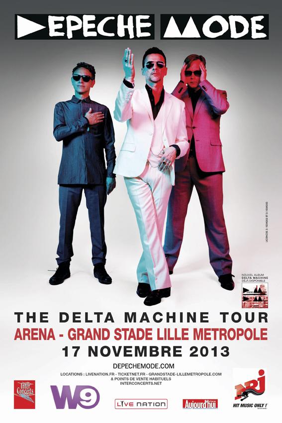 DEPECHE MODE 20X30 PROVINCE lille   Le Grand Stade de Lille accueillera Depeche Mode le 17 novembre 2013