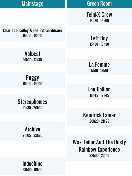 table 7juillet   Êtes vous prêts pour le Main Square Festival 2013 ?