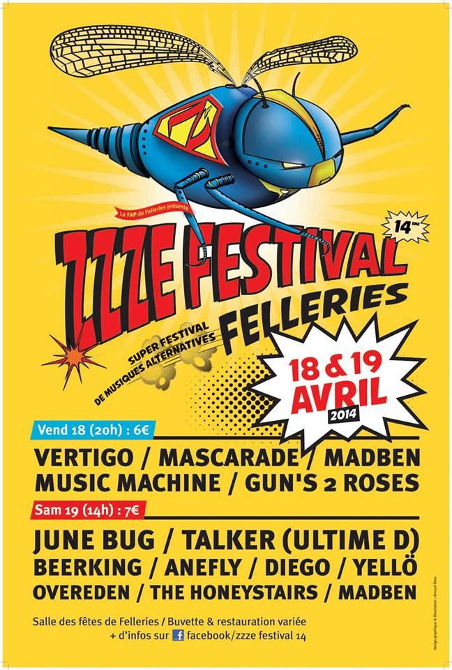 affiche zzze festival 2014   Découvrez la programmation du Zzze Festival 2014